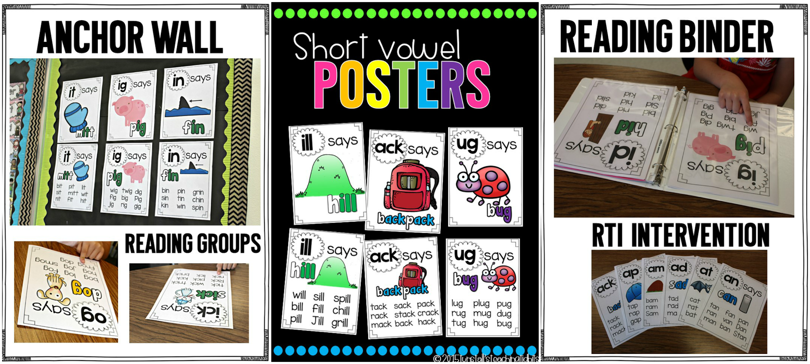 https://www.teacherspayteachers.com/Product/Phonics-Posters-Short-Vowels-1818254
