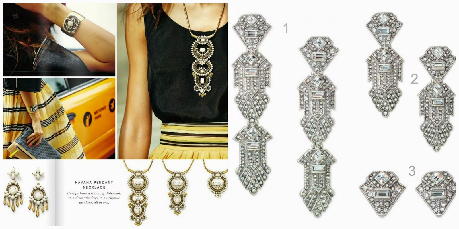 The ronda report stella dot springsummer 2015 l to r detachable havana chandelier earrings 49 havana pendant 89 casablanca earrings 59 arubaitofo Image collections