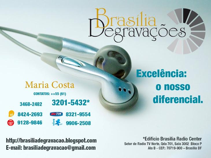 BRASÍLIA SERVIÇO DE DEGRAVAÇÃO DE ÁUDIO LTDA. ME