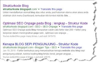 Sebagai seorang blogger pemula yang gres terjun di dunia blogging Cara Melihat dan Mengetahui Google Index pada Blog Anda?