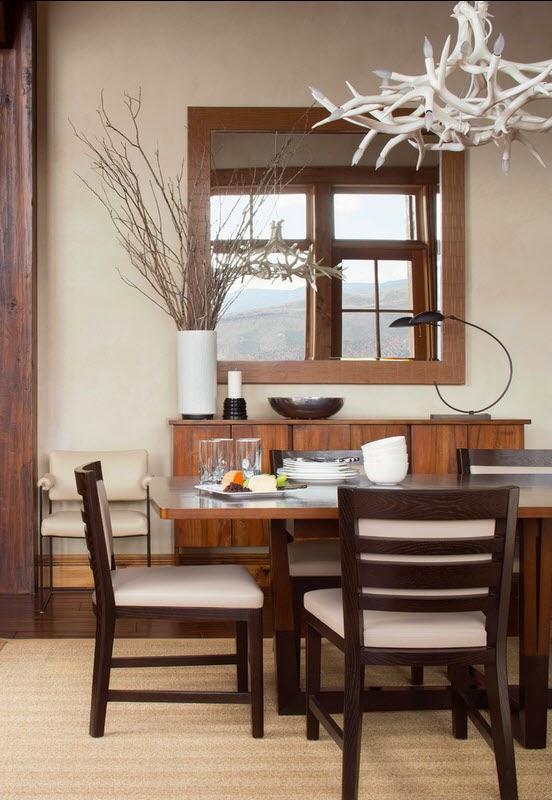 Ruang Makan Gaya Rustik 1