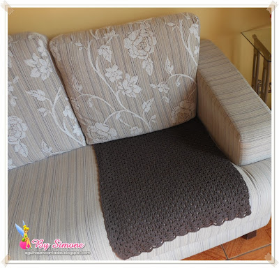 manta para sofá, manta em crochê