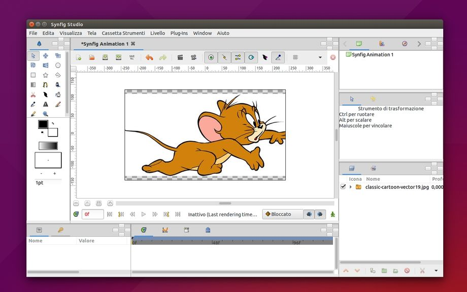 Synfig Studio in Ubuntu