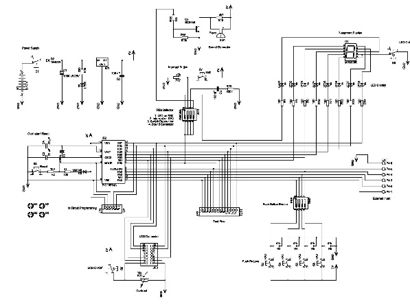 circuit pic16f84a microcontroller