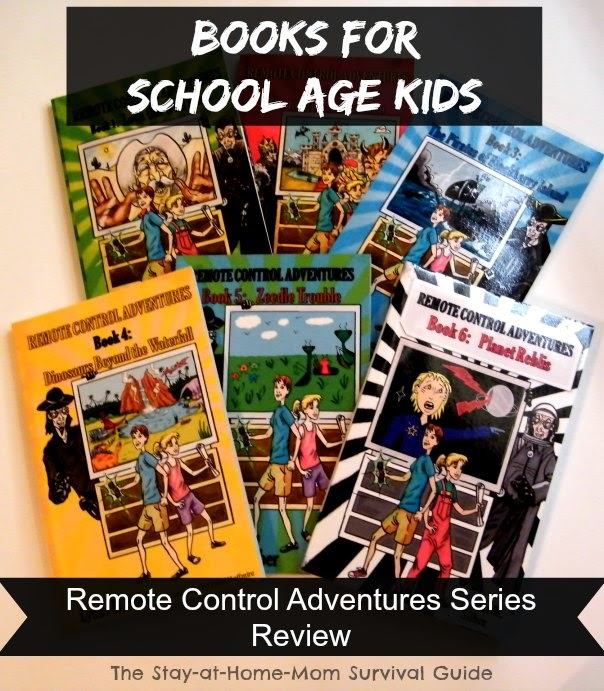 A fun and interesting set of books for school age kids called the Remote Control Adventures series reviewed at The Stay-at-Home-Mom Survival Guide.
