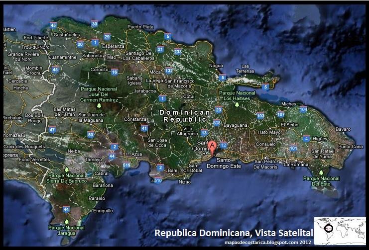 Repblica Dominicana Mapa De Satlite