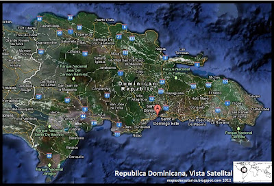 Mapa de Republica Dominicana, Vista Satelital