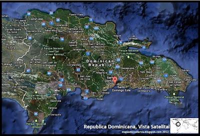 Mapa de Republica Dominicana, Vista Satelital