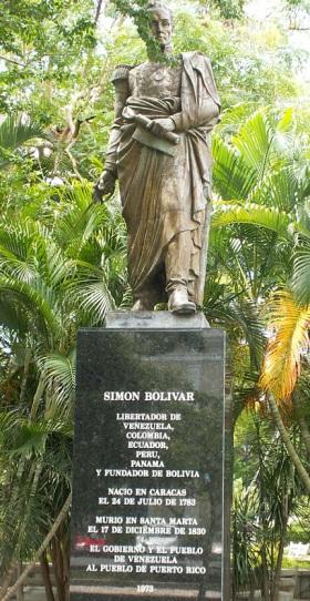 Monumento de Simón Bolivar en San Juan - Puerto Rico