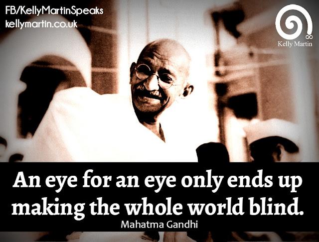 Mahatma Gandhi An eye for an eye quote