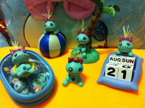 (INSTOCK Calendar Block Design) Japan Seto Craft Scrump Figures