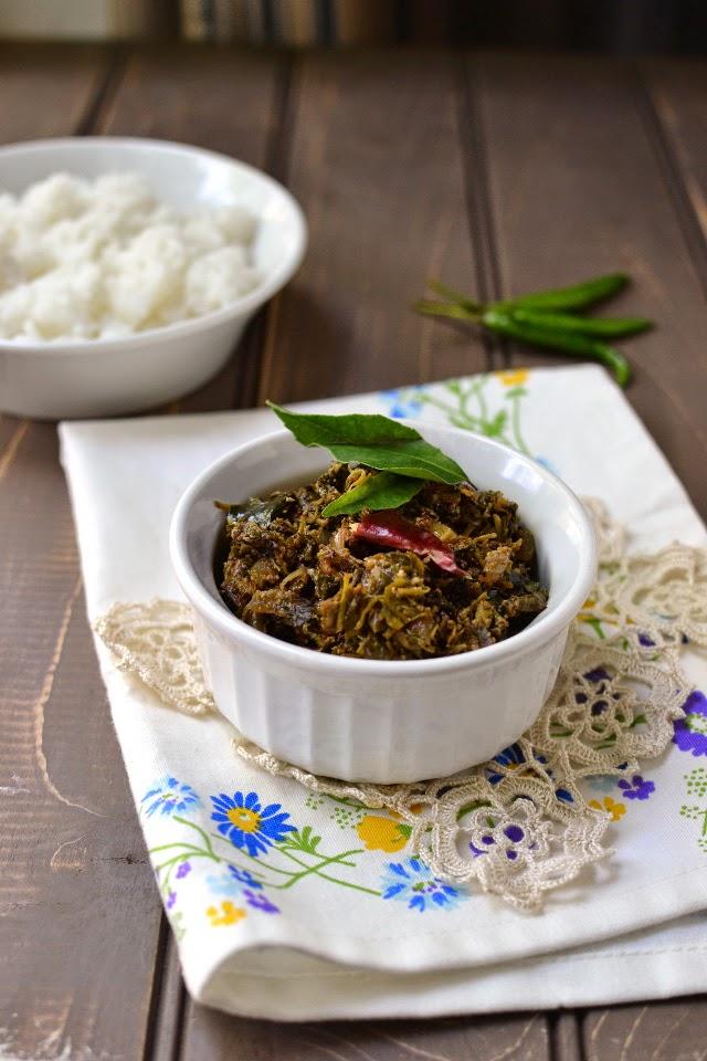 Thotakura Thelagapindi Kura (Amaranth Greens-Sesame Curry)