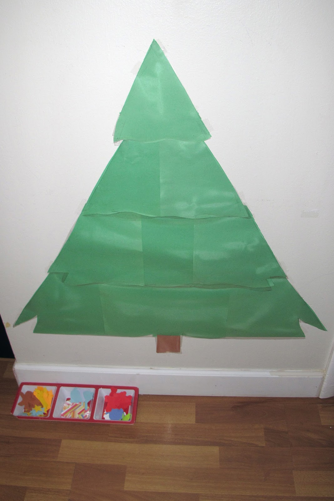 Decorate Christmas Tree On Paper : Peaceful parenting decorating a contact paper christmas tree