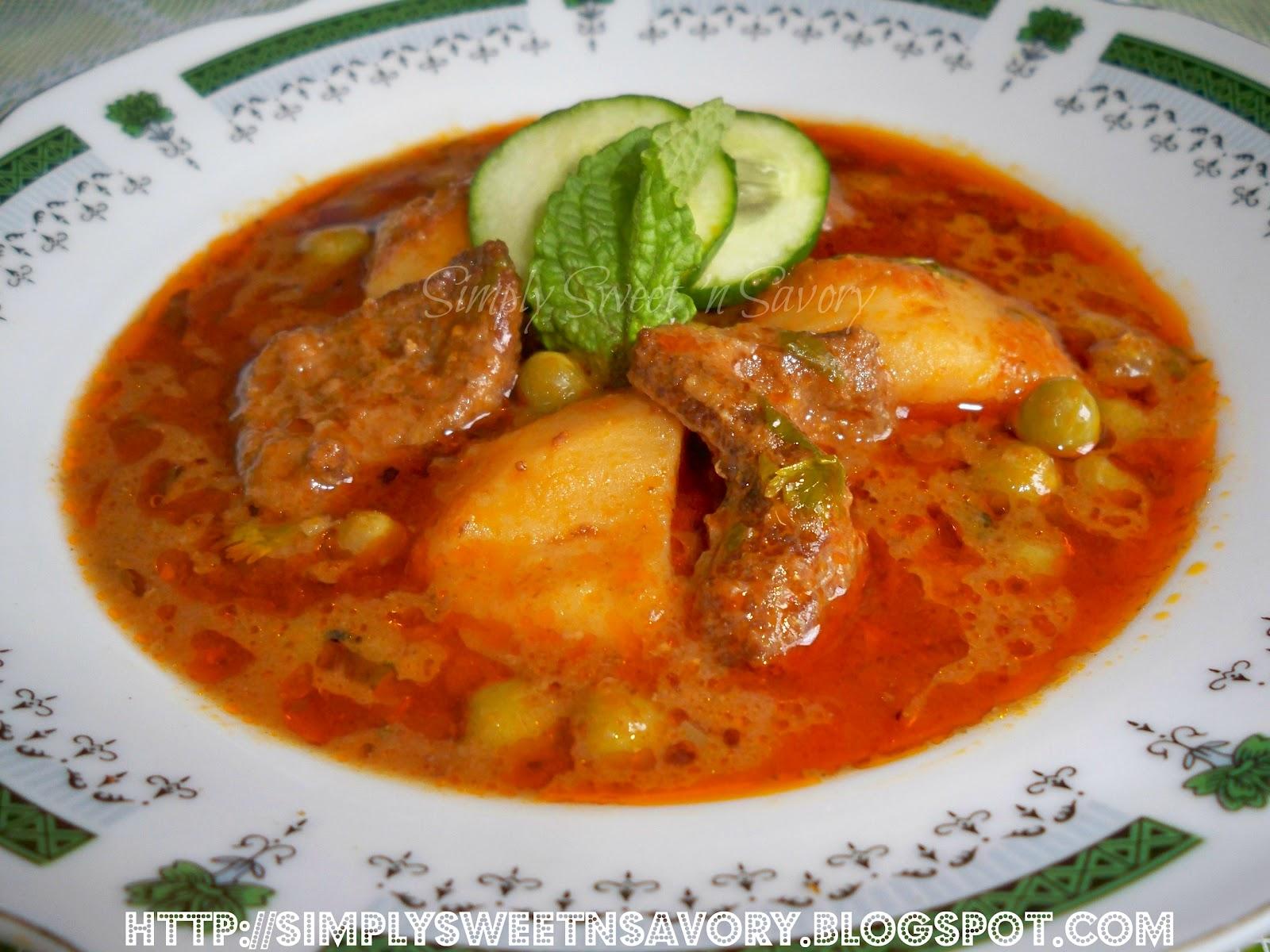 ... Savory: Aloo Matar Gosht ( Mutton Curry with Potatoes and Peas