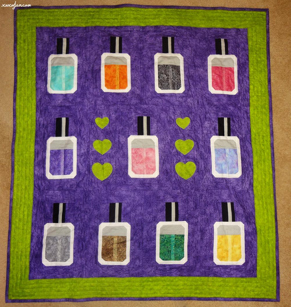 xoxoJen's Nail Polish Quilt