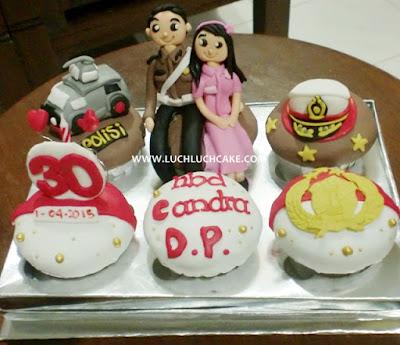 Birthday Cupcake Tema Polisi