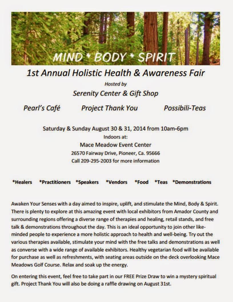 Holistic Health & Awareness Fair - Aug 30 & 31