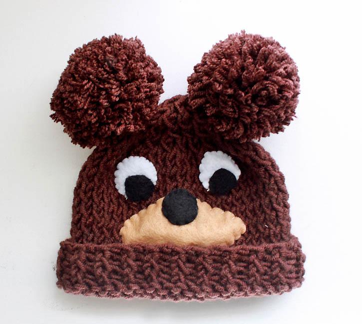 Knitted Bear Hat Pattern : Baby Bear Hat [knitting pattern] - Gina Michele
