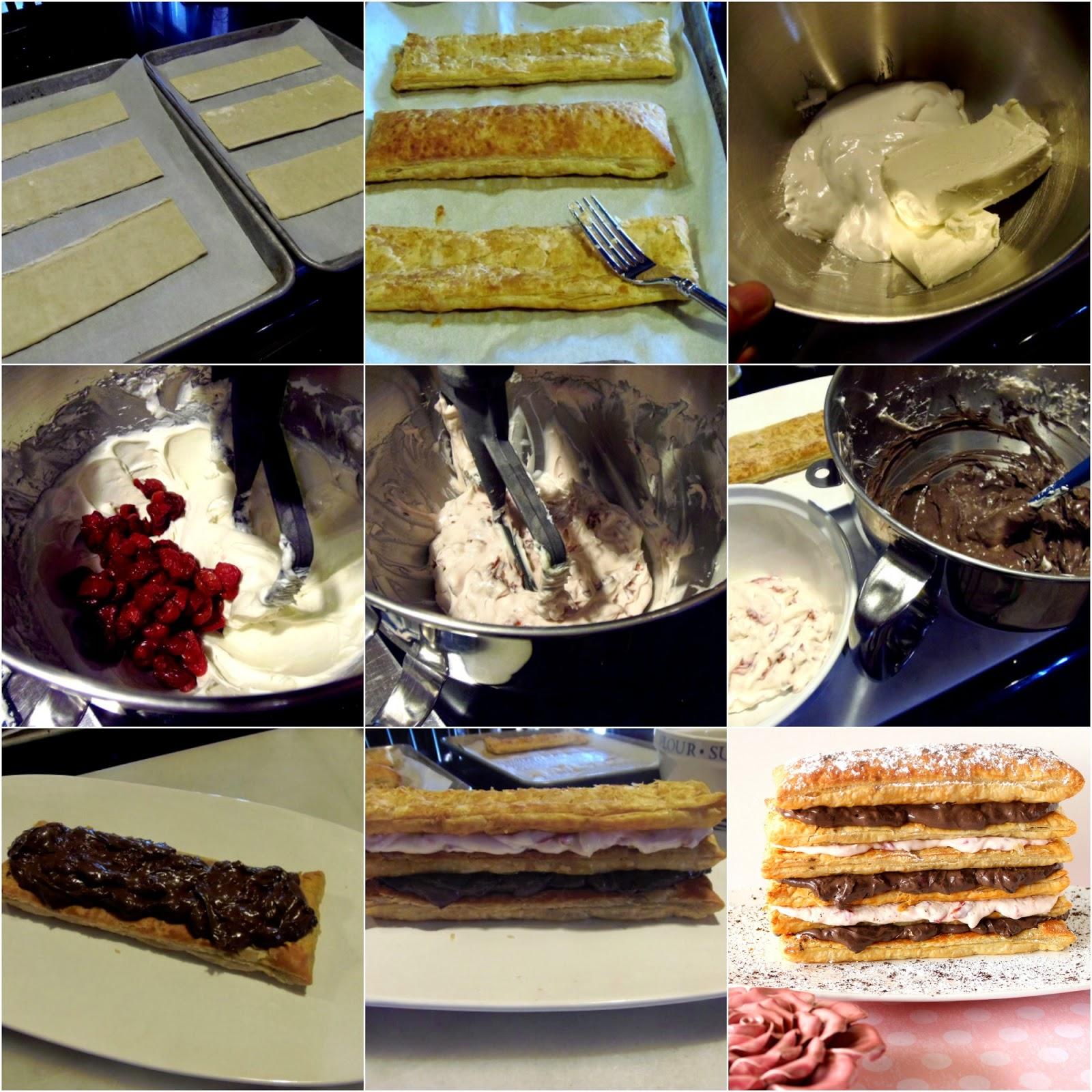 Chocolate Cherry Cream Pastry Tower Recipe via Kudos Kitchen by Renee