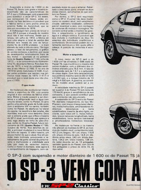 Revista Quatro Rodas - Segredo Volkswagen SP3