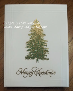 Christmas Card made with Stampin'UP!'s Evergreen stamp set