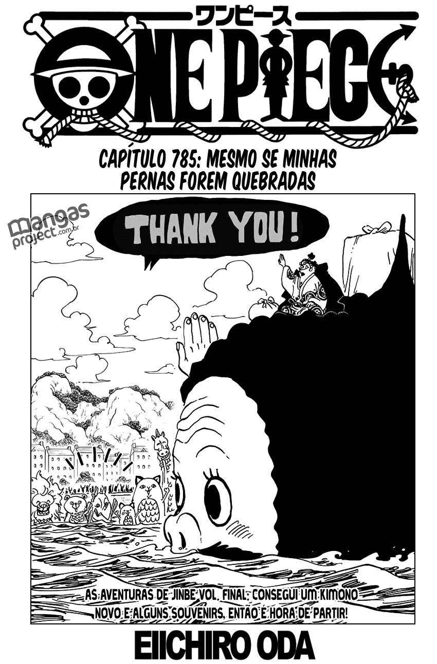 One Piece Mangá 785, Mangá One Piece 785, One Piece Capítulo 785, One piece, 785, Todos os Mangás, ler, português, traduzido, legendados