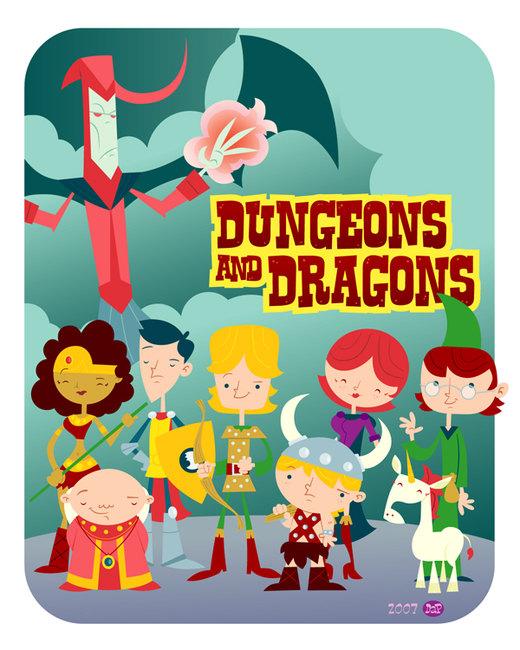 Dungeons n' Dragons por Montygog