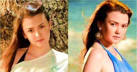 Angelica Panganiban as the twins Serena and Rebecca in Apoy Sa Dagat
