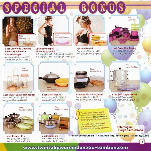 Special Bonus Twin Tulipware | Mei - Juni 2014