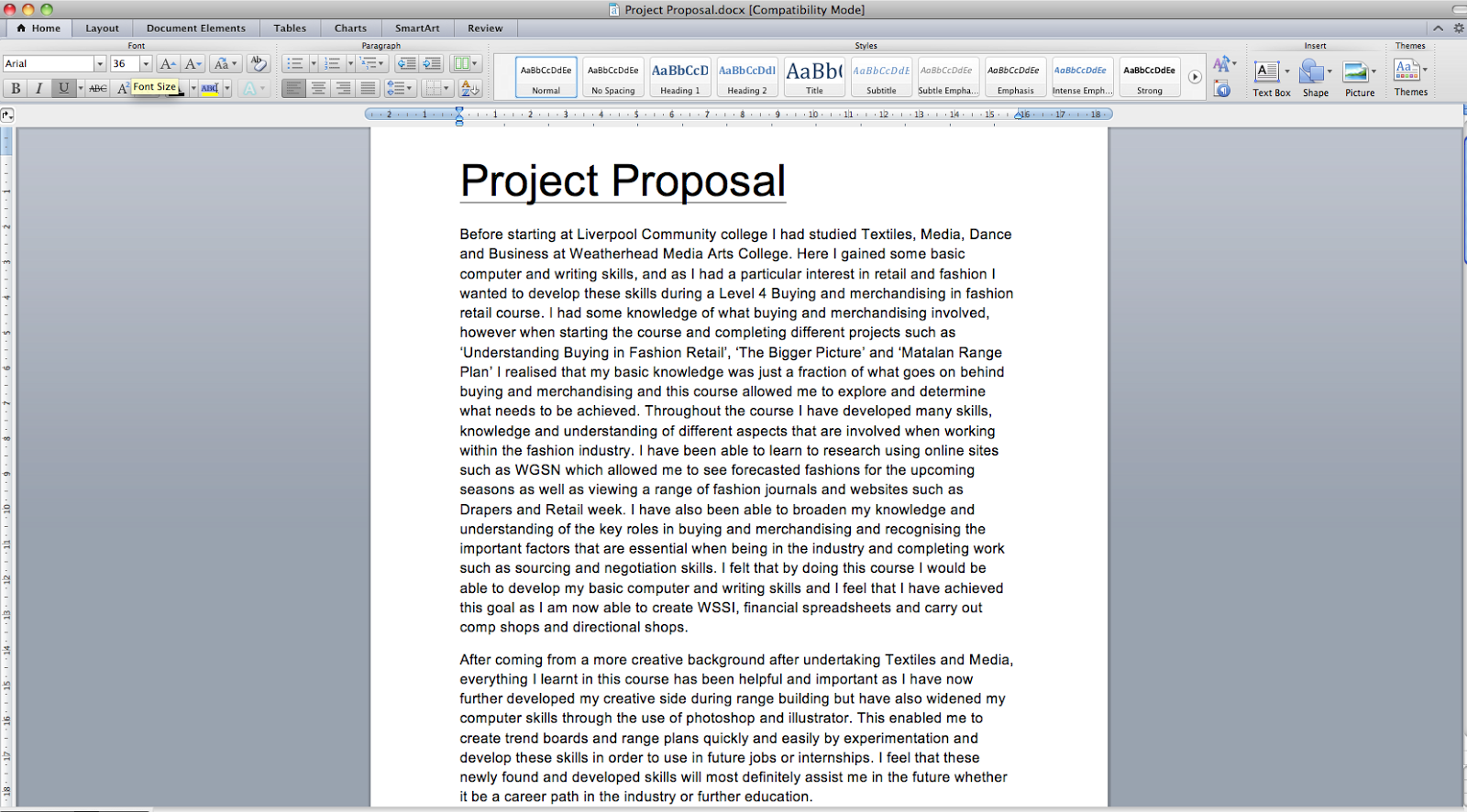 major project proposal
