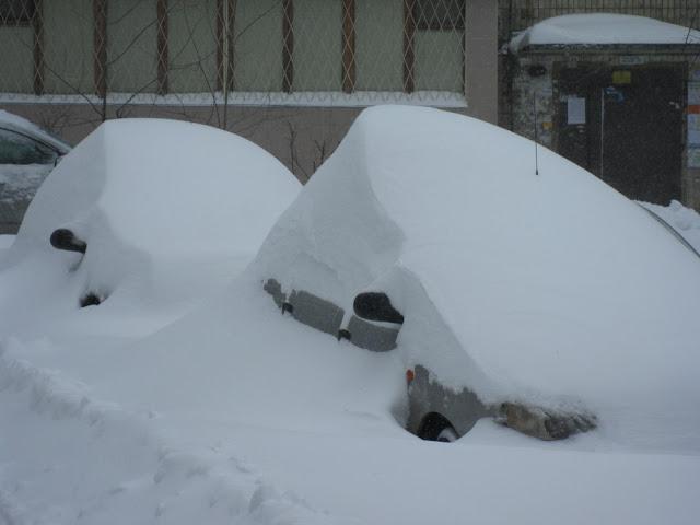 Фото Виталия Бабенко: автомобили занесло снегом