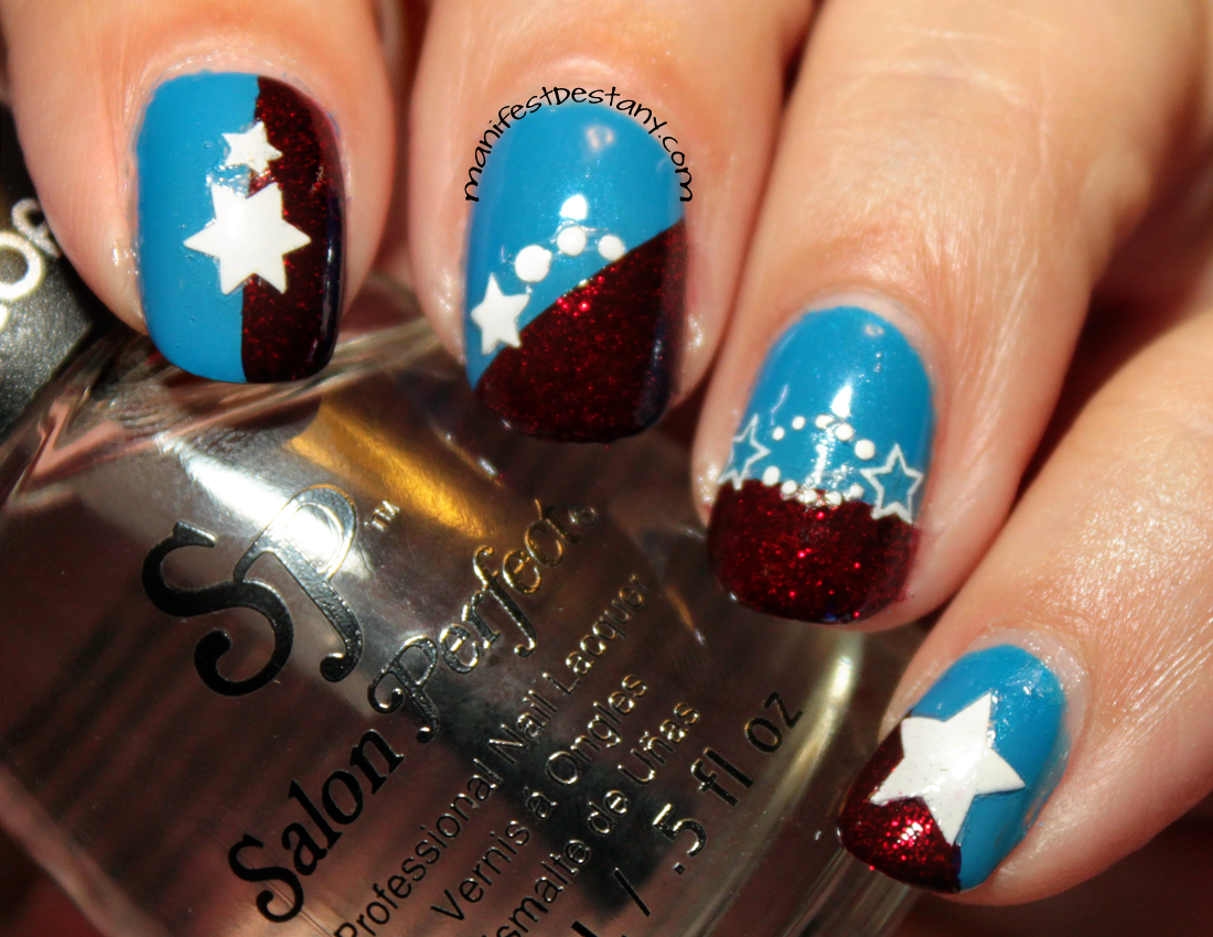 July 4th nail art with Salon Perfect! | Confessions of a Sarcastic Mom