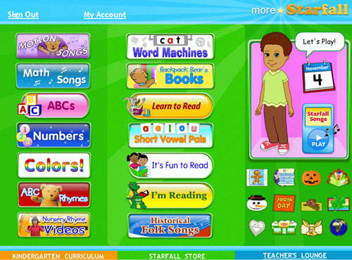 Homeschool Resource: Free Phonics at Starfall - My Sweet Homeschool
