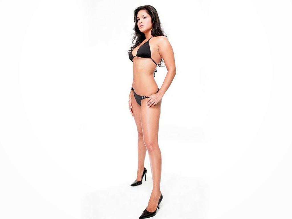 Sunny Leone Hot High Heels HD Black Bikini Porn Pics HD Nude Swimsuit Pics
