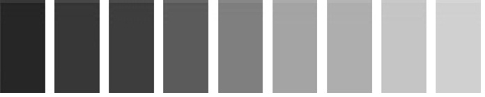 El color - Gama de colores grises ...