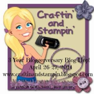 CRAFTIN' & STAMPIN' BLOG HOP - APRIL 26-27