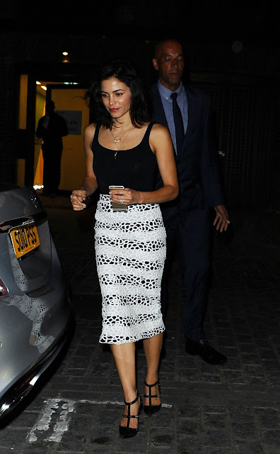 Actress @ Jenna Dewan out for Dinner in London
