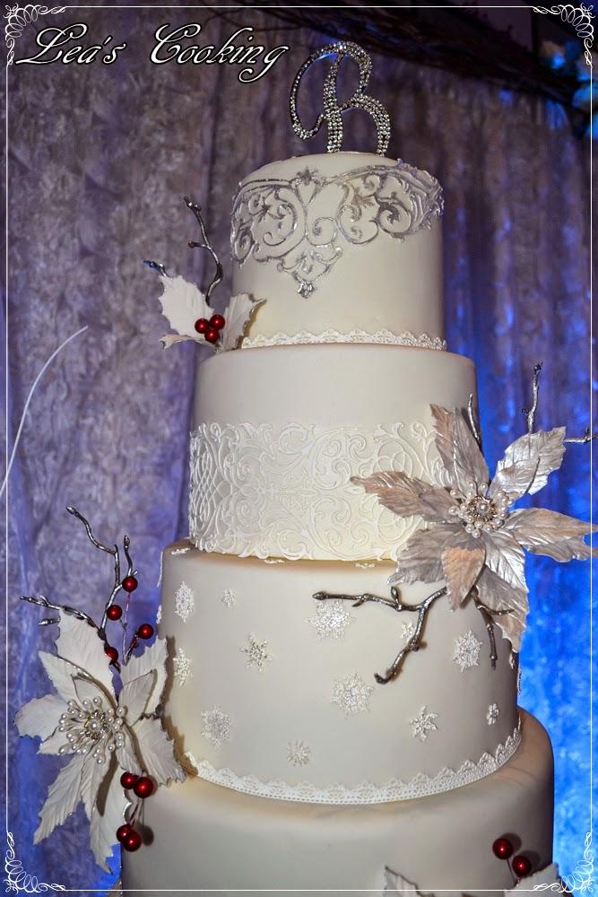 Lea S Cooking Winter Wonderland Wedding Cake Pictures