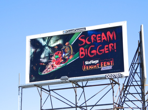 Scream Bigger Six Flags Fright Fest billboard