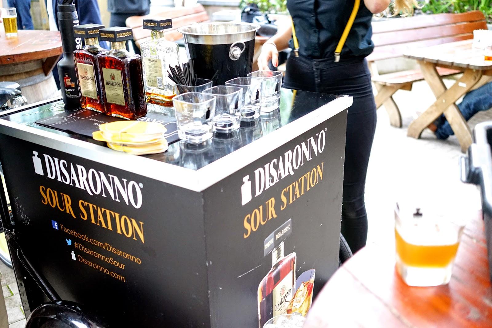 Disaronno Sour station