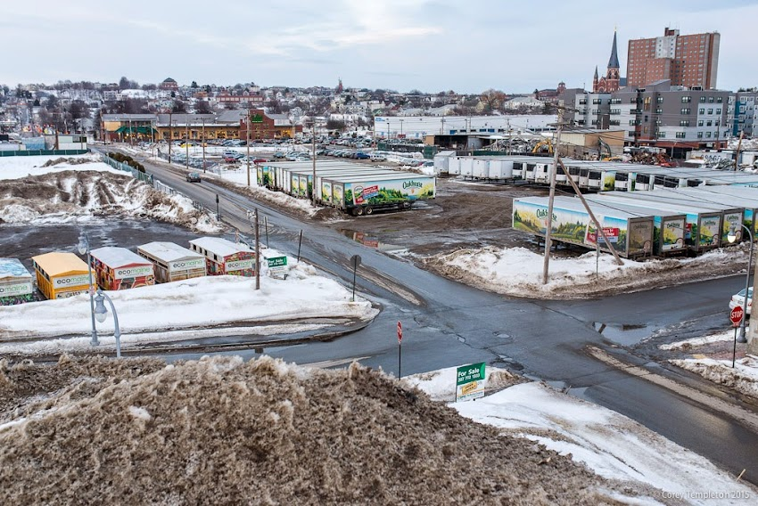 Portland, Maine March 2015 Winter Bayside Glacier future spot of Midtown Project photos by Corey Templeton