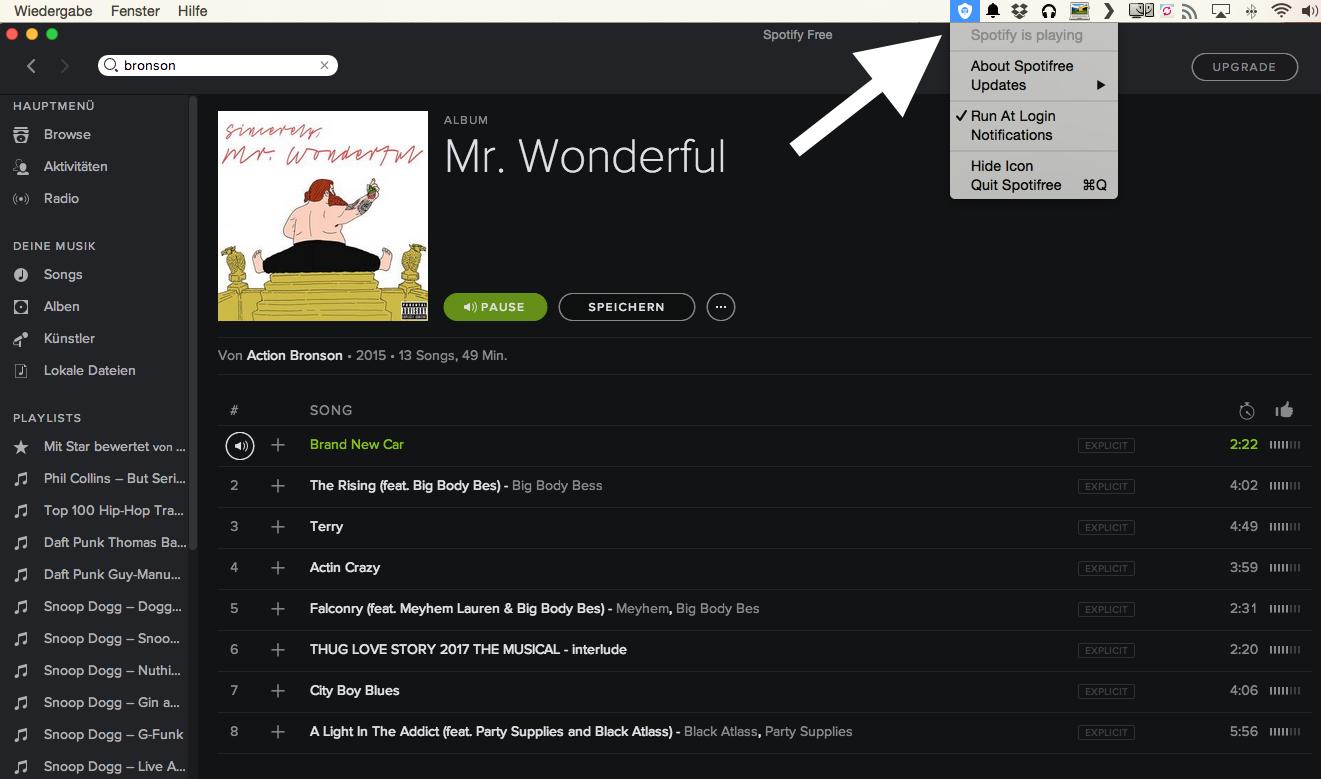 Atomlabor Webtipp - Spotify Free ohne Werbung - Ein kleines Script am Mac sorgt für Ruhe