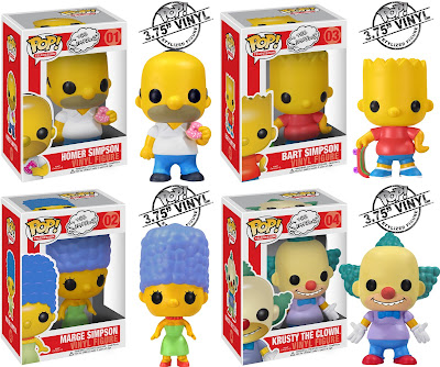 The Simpsons Pop! Television Vinyl Figure Series 1 by Funko - Homer Simpson, Bart Simpson, Marge Simpson & Crusty the Clown