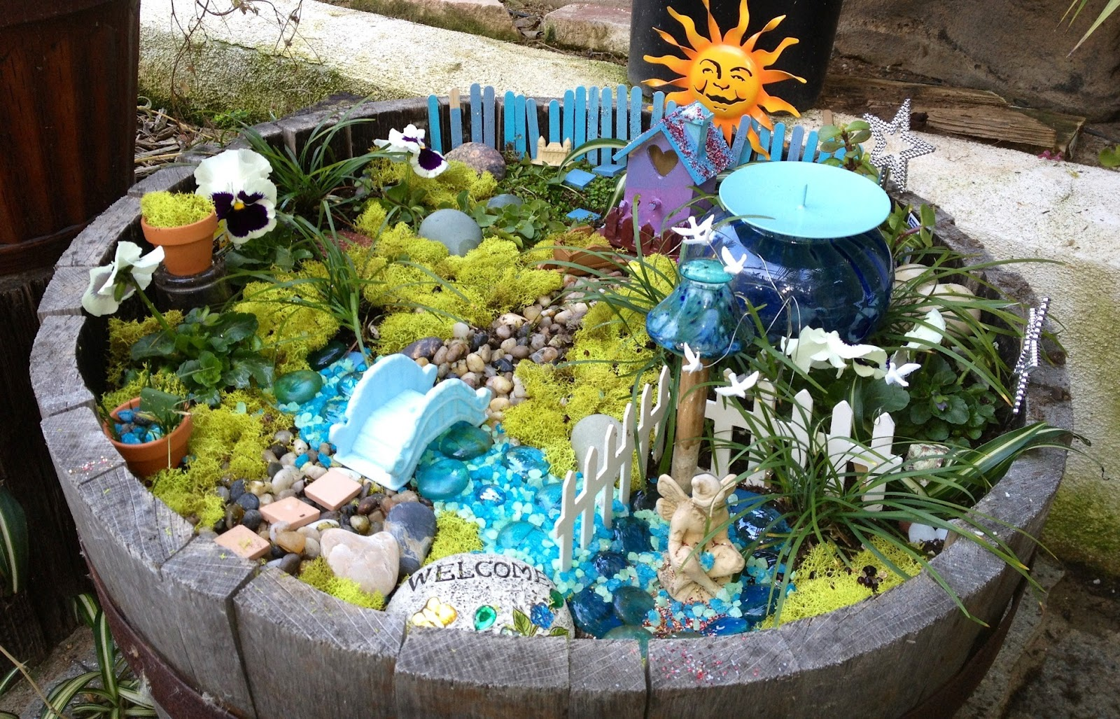 The concoctions of my life fairy gardens frolics and no for Making a water garden