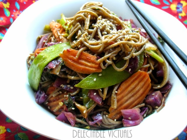 kid friendly Quick and Simple Yakisoba noodles