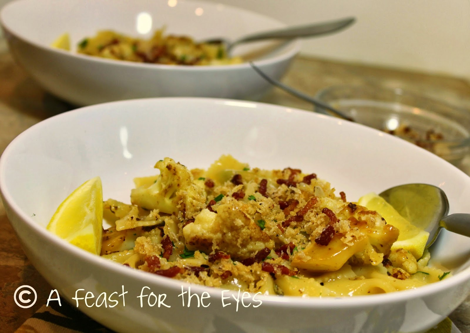 """Pasta with Cauliflower, Bacon and Breadcrumbs-- the """"Almost Meatless ..."""