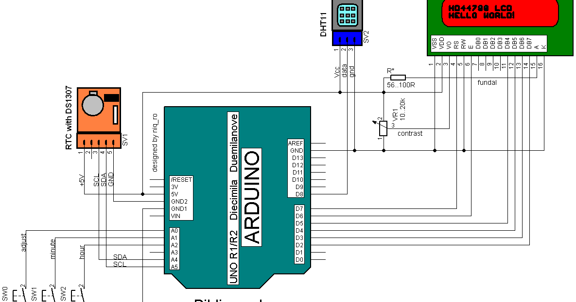 Arduino tehniq weather station manual adjust for rtc