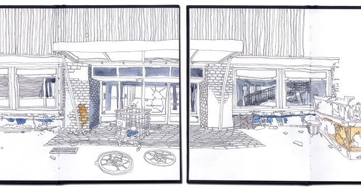 Urban sketchers france la savoyarde du meuble thonon les bains - Magasin de meuble thonon les bains ...