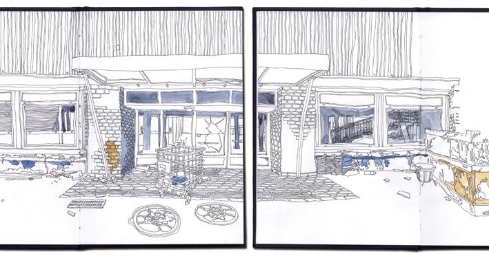 Urban Sketchers France La Savoyarde Du Meuble Thonon