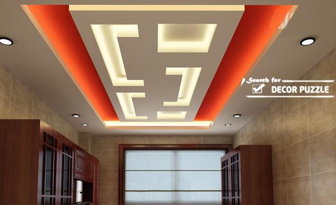 Cool modern false ceiling designs for living room 2018 for Pop design for hall photos